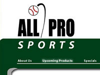 All Pro Sports Company Website