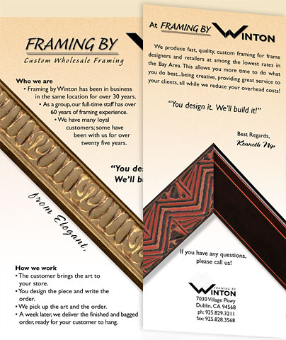 Framing By Winton Company Sales Brochure–Opening Pages 1 and 2